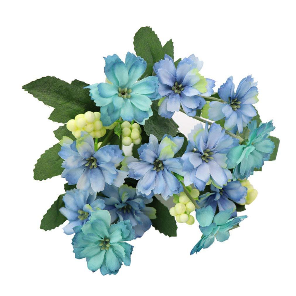 gzzebo 1 Ramo Encantador Artificial Pequeña Margarita Flor Planta Hogar Jardín Oficina Fiesta Decoración de la Boda…