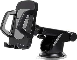 Amazon Brand - Solimo Turbo Mobile Holder for Cars (360 Degree Rotation, Black)