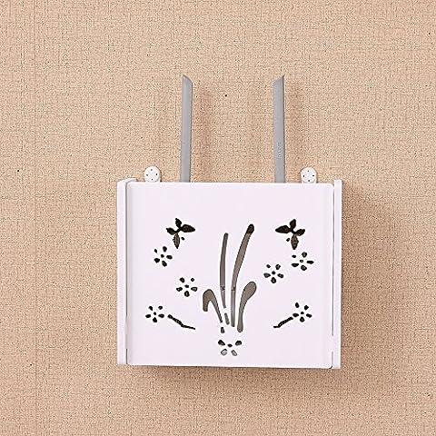routeur Wifi étagère/TV set-top Boxes Magic étagère de rangement Boîte de décoration murale de renforcement à suspendre Rack Creative Boîte de rangement,