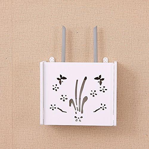 routeur Wifi étagère/TV set-top Boxes Magic étagère de rangement Boîte de décoration murale de renforcement à suspendre Rack Creative Boîte de rangement, C4
