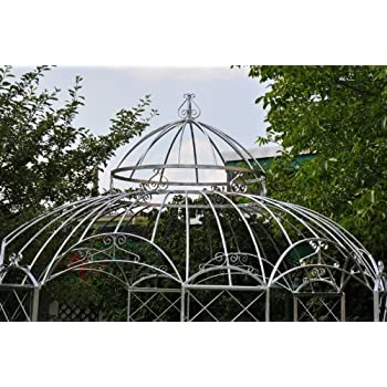 KUHEIGA STABILER Pavillon Verzinkt Pergola Zink Ø290cm Gartenpavillon