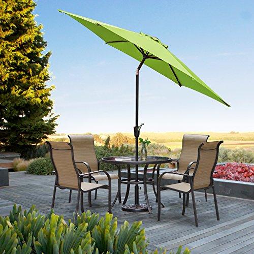 Grand Patio Gartenschirm mit Dreh-Kipp-Mechanismus Kurbelschirm Sonnenschutz UV-Schutz Sonnenschirm Ø 270CM, rund, Grün