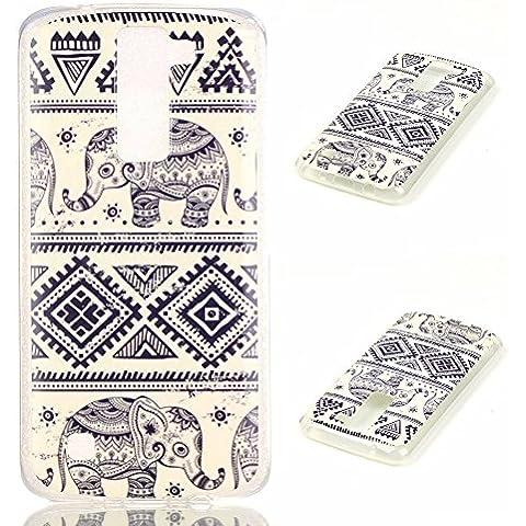 Meet de elefante Caso / copertura / Telefono / sacchetto Per LG K8 PU Pelle Case , LG K8 Custodia / Cover / Cover Shell / Protettiva Caso / Cover / Protezione / Copertura TPU Per LG K8