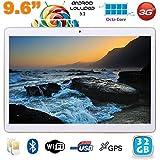 Tablette 3G 9.6 pouces Android 5.1 Octa Core 2Go RAM 32 Go Blanc