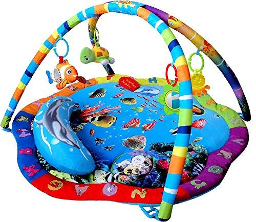 just4baby Light & Musical Baby Ocean Spielmatte Play Gym Musical Activity Spieldecke Atemberaubende Ocean Sealife Activity Play Gym