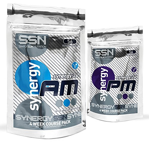 Simply Slim Nutrition Symply24 Diet Pills -|Strong AM/PM Slimming Pills | Advanced AM Appetite Control Weight loss Pills | Natural PM Detox Diet Pills .