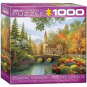 Euro Gráficos Puzzle 1000 Piezas - Davison - Iglesia de otoño (Cuadro de 8x8) (MO) - (EG80000695)