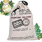 Sacchetti regalo in juta in stile vintage per Natale, ideali come sacchi per regali di Babbo Natale personalizzabili White overnight delivery