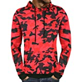 6396419fd0ea Hommes Automne Camouflage Sweat à Capuche Stand Collier Outwear Tops  Blouse- Veste A Capuche Homme