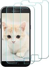 loquiet [3 Stück Samsung Galaxy A5 2017 Panzerglas Schutzfolie, Panzerglasfolie Panzerfolie Displayschutzfolie für Samsung Galaxy A5 2017, 99% Transparenz, Schutz vor Wasser, Öl, Staub und Kratzern.