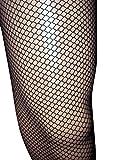 Emmas Wardrobe Noir Collants résille - Diamant Net Leggings avec Taille élastique - Taille Unique (Black)