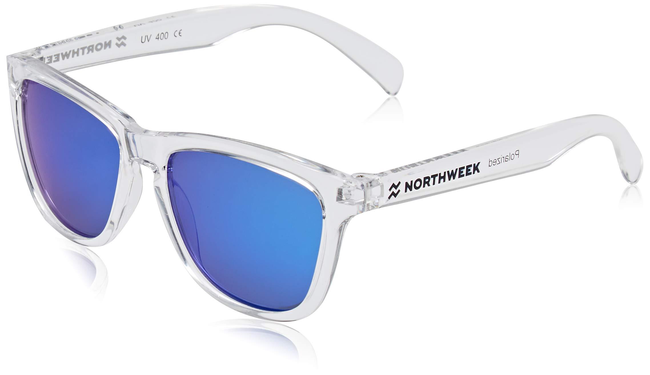 NORTHWEEK Kids Seabright - Gafas de Sol para Niño y Niña, Polarizadas, Translúcido/Azul 1