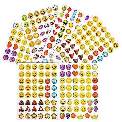 German Trendseller® - emoji sticker┃ 288 autocollantes d'emoticons ┃ portable smiley┃icon┃ facebook┃ instagram┃ twitter┃