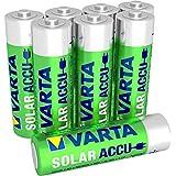 Varta SOLAR Mignon Ni-Mh Akku (AA, 800mAh, 8-er Pack), wiederaufladbar ohne Memory-Effekt - sofort einsatzbereit