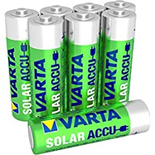Varta AA Solar Garden Light ACCU Rechargeable Batteries Ni-Mh 800mAh - 8 pack