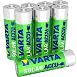 VARTA SOLAR Rechargeable AA Mignon Ni-MH accu (8 pack, 800mAh) - rechargeable without Memory effect - Ready to use
