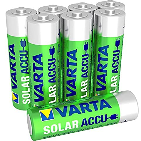 Varta solaire AA batterie rechargeable Ni-Mh (AA, 800mAh, 8-pack)