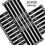 30 Stück Wiederverwendbare Klettkabelbinder, Accevo Klettverschluss Klettband in 3 verschiedenen Längen, Ideal für den vielseitigen Einsatz im Kabelmanagemen