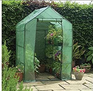 WALK-IN GREENHOUSE INCLUDING SHELVING