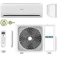 HEIKO Klimaanlage Wohnung - Komplett Set Inkl. 5m Leitungen und Anschlüsse - 3,6 kW 12000 BTU 55 m2 - R32 Split Inverter Klimagerät JS036-B1-JZ036-B1