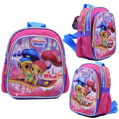 Disney-schimmernden Glanz und Glanz Kids 25,4cm Mini Schule Rucksack Leinwand Buch Tasche New USA Verkäufer -