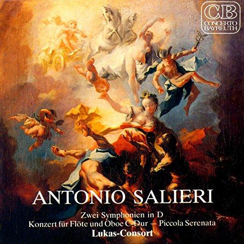 Salieri: Zwei Symphonien, Konzert für Flöte und Oboe, Piccolo Serenata