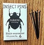 Subere Entomology Insekten-Befestigungsstifte, Größe 6, 100 Stück