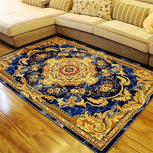 Moquettes tapis et sous-tapis Style européen Luxueux Salon Carpet Canapé Table basse Tapis Chambre Tapis de chevet 6 tailles (taille : 120 * 160cm)