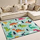 ingbags Super Weich Moderner Funny Dinosaurier Cartoon, ein Wohnzimmer Teppiche Teppich Schlafzimmer Teppich für Kinder Play massiv Home Decorator Boden Teppich und Teppiche 160x 121,9cm, multi, 63 x 48 Inch