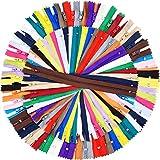 9 Pollici e 12 Pollici Cerniere per Cucire 25 Colori Nylon Chiusure Lampo Colorato per Artigianato da Cucire, 100 Pezzi