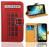Wiko Lenny 2 Handy Tasche, FoneExpert® Wallet Case Flip Cover Hüllen Etui Ledertasche Lederhülle Premium Schutzhülle für Wiko Lenny 2 (Pattern 12)