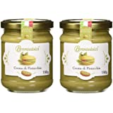 2 Vasetti - Crema di Pistacchio con il 40% di pistacchi di Sicilia, ideale per la colazione, ma soprattutto per farcire dolci