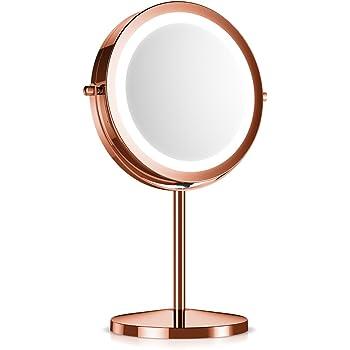Navaris Led Illuminated Makeup Mirror Two Sided Vanity
