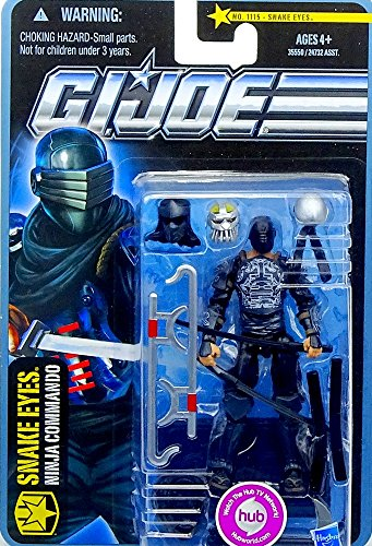 G.I. Joe Snake Eyes Ninja Commando - Arctic Threat - The Pursuit of Cobra - Actionfigur von Hasbro