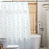LE Shower curtain Water drop pattern Partition curtain Hanging curtain Thicken waterproof Mildew Bathroom curtain Shower curtain fabric Curtains,A_200cm(H) x200cm(W)
