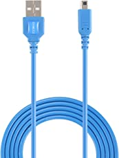 Exlene Nintendo 3DS Cavo USB Power Charger Gioca durante la ricarica per Nintendo 3DS, 3DS XL, 2DS, 2DS XL LL, DSi, DSi XL -4ft / 1,2 m (blu)
