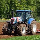 Traktor Grußkarte mit Motor Klang im Inneren
