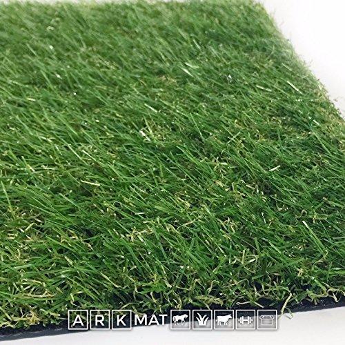 Erba artificiale Grand alta 30 mm, 79 dimensioni disponibili, 1920 g/m², 12600fili d'erba al metro, 9000 Dtex, tappeto di erba sintetica ad alta intensità e dall'aspetto realistico