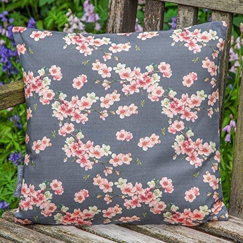 Lakeland Garten Kissen - Kirschblüten - Graphit, 40 x 40 cm Cushion