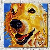 Golden momentos por Simon Bull, 8x 8decorativo de cerámica para azulejos de pared placa regalo de perro Labrador Retriever