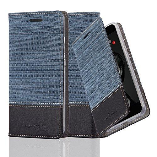 Cadorabo Custodia Libro per Huawei P10 Plus in Azzurro Scuro Nero - con Vani di Carte, Funzione Stand e Chiusura Magnetica - Portafoglio Cover Case Wallet Book Etui Protezione