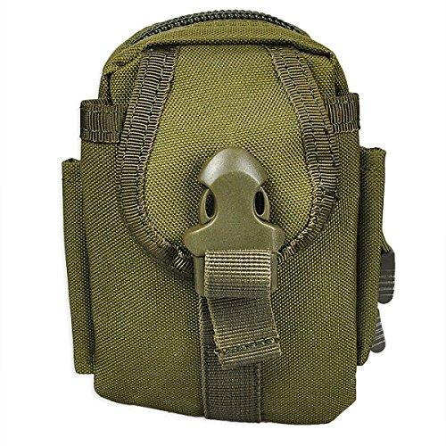Solon Multi Functional Tactical Gürteltasche Outdoor Survival Molle System Kettle Runde Tasche für Sports Camping Armee grün