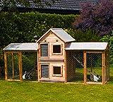 Kleintiervilla MAXI + Erweiterungsstall + 2 Auslaufgehege Kaninchenstall Stall