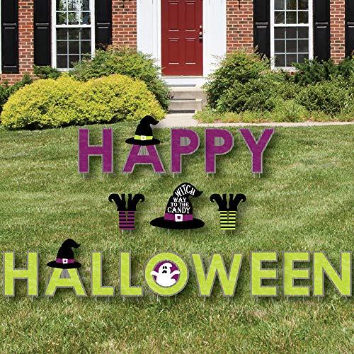 Big Dot of Happiness Happy Halloween - Yard Sign Outdoor Rasen Dekorationen - Hexe Party Yard Schilder - Happy Halloween