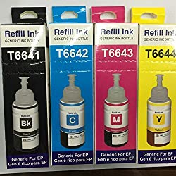 Epson printer ink / Epson Compatible Refill Ink / Epson Ink Bottle / Epson refill Ink Set of 4