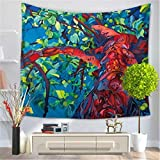 Creative Tapestry, Oil Painting Tree Tapestry, Wall Decoration, Outdoor Beach Towel Beach Blanket , I , 150*130