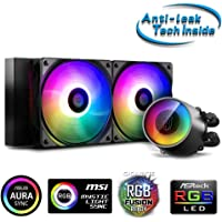 Deepcool Castle 240 RGB V2 All-in-one Liquid CPU Cooler with Anti-Leak Tech Mirror Finish and immersive Ambient Lighting…