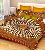 RajasthaniKart 100% Cotton Double Bedshe...