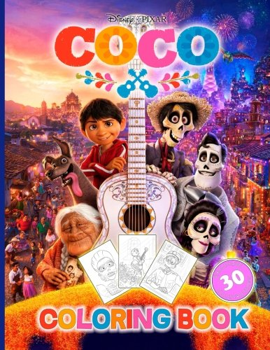 Coco: Coloring Book for Kids and Adults (Disney/Pixar), Activity Book (Exclusive high-quality Illustrations 2017) por Colorful Inspiration