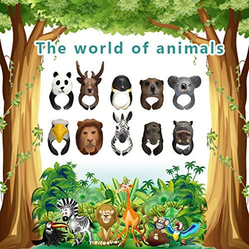 er Form Ring Tieröffnung Kreative 3D Tierring Kinder Erkenntnis Spielzeug Karikatur Kindertages Geschenk ()